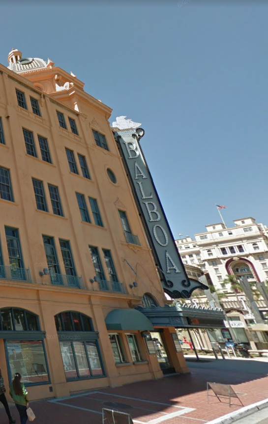picture of balboa theatre in gaslamp district san diego
